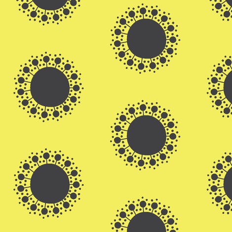 Sprout in Lemon fabric by bluenini on Spoonflower - custom fabric