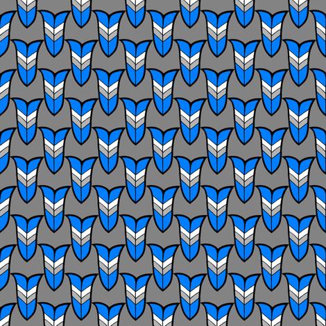 Heraldic Blossom - Blue fabric by siya on Spoonflower - custom fabric