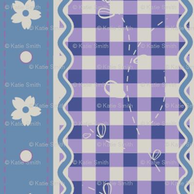 Lavender Gingham Stripes
