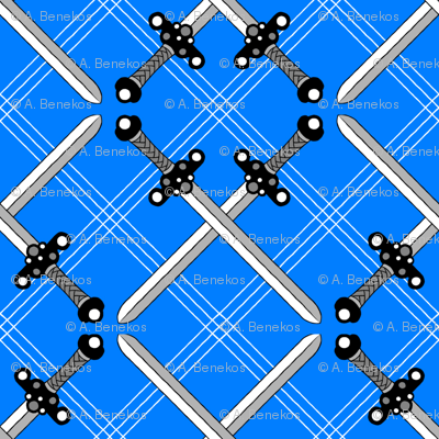 Heraldic Blossom Crossed Swords