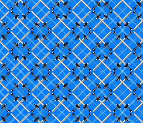 Heraldic Blossom Crossed Swords fabric by siya on Spoonflower - custom fabric