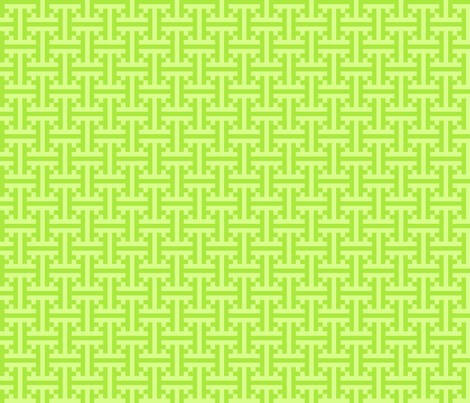 geometric green pattern fabric by suziedesign on Spoonflower - custom fabric