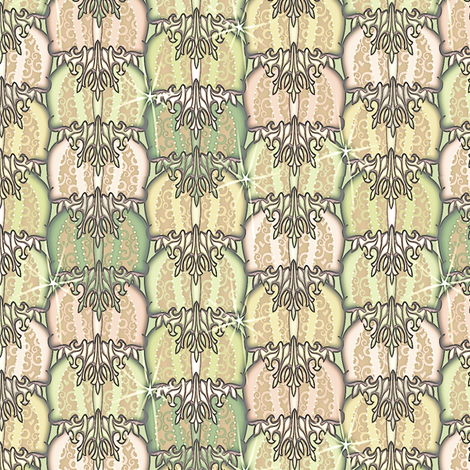 at_the_ball melon fabric by glimmericks on Spoonflower - custom fabric
