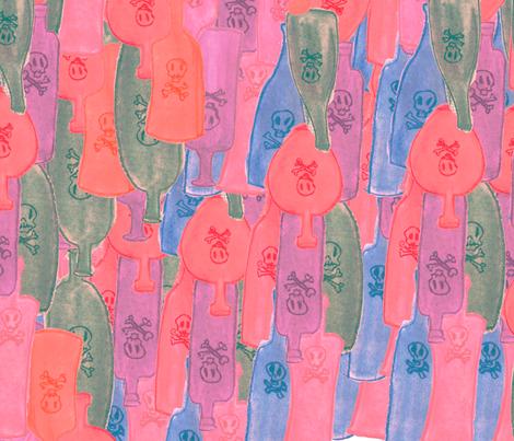 Spirits -Warm Pale fabric by sunday_hoodoo on Spoonflower - custom fabric
