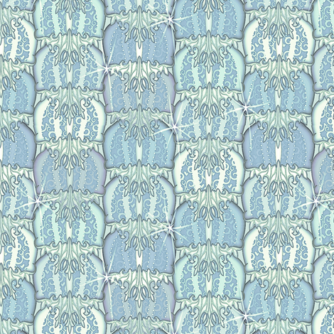 at_the_ball delphin fabric by glimmericks on Spoonflower - custom fabric