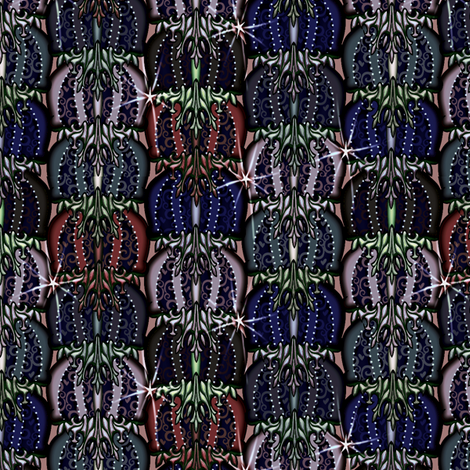 at_the_ball2 dark poppies fabric by glimmericks on Spoonflower - custom fabric