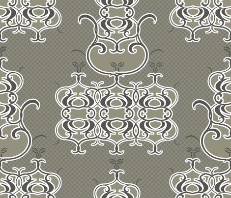 Patina Damask fabric by joanmclemore on Spoonflower - custom fabric
