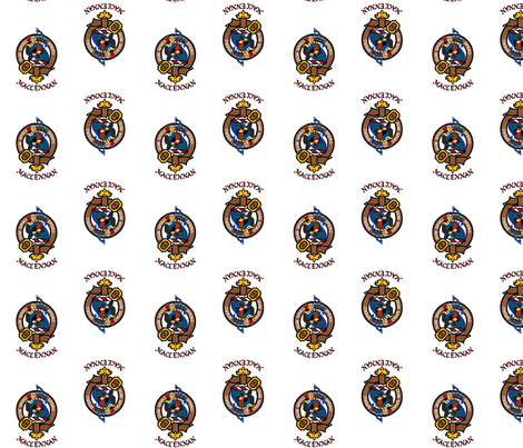MacLennan Clan Badge Crest fabric by jen's_embroidery on Spoonflower - custom fabric