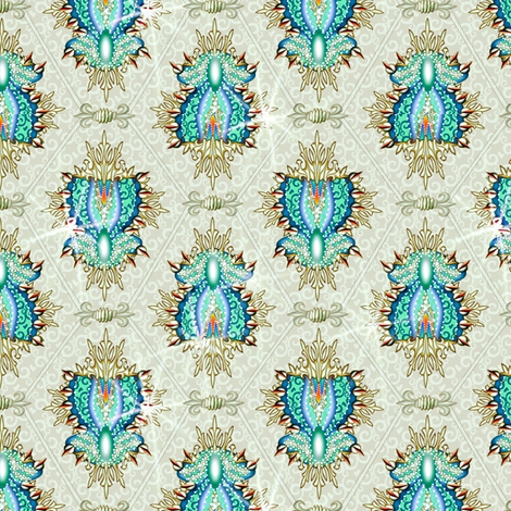 elaboration cool fabric by glimmericks on Spoonflower - custom fabric