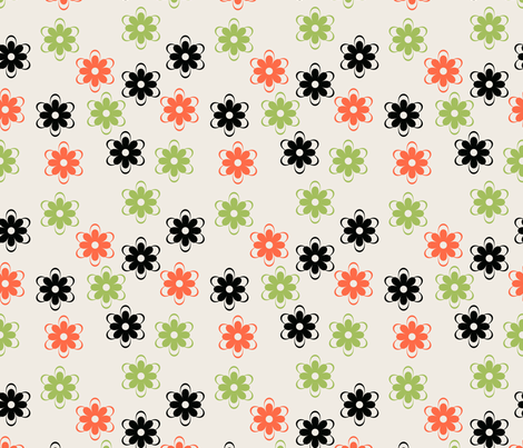 Colorful flower pattern fabric by suziedesign on Spoonflower - custom fabric