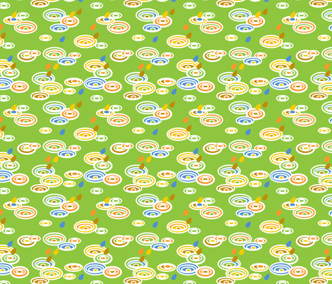 Pitter Pattern in Green fabric by pininkie on Spoonflower - custom fabric