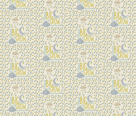 Oh Sweet Baby Big Dreams  fabric by icarpediem on Spoonflower - custom fabric