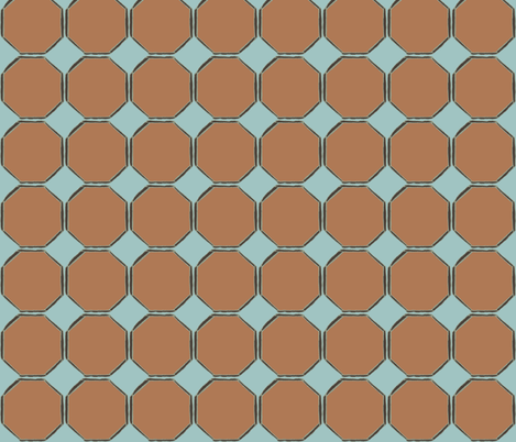 octagonorange fabric by luluhoo on Spoonflower - custom fabric