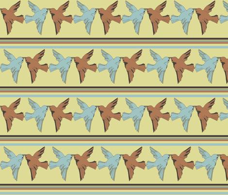 birdkiss fabric by luluhoo on Spoonflower - custom fabric