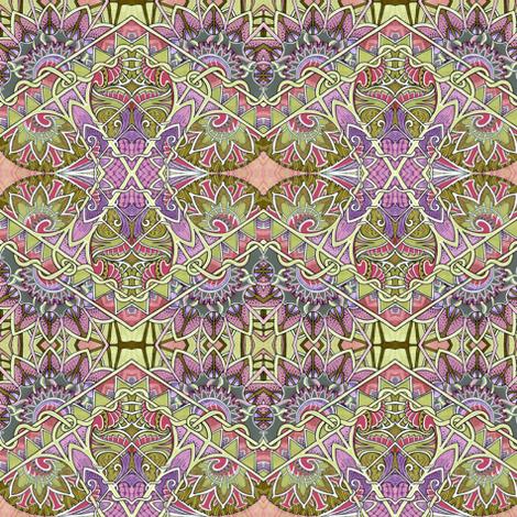 A Zig Zag Diamond Garden fabric by edsel2084 on Spoonflower - custom fabric