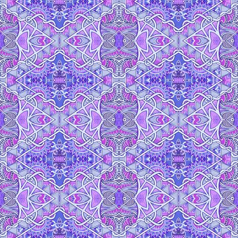 Blue Diamond Tiki Tangle fabric by edsel2084 on Spoonflower - custom fabric