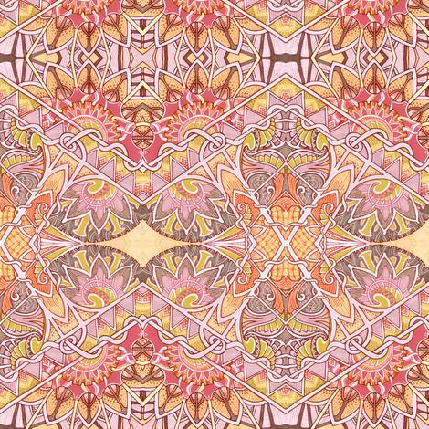Orange Criss Cross Zig Zag Ski Trip fabric by edsel2084 on Spoonflower - custom fabric
