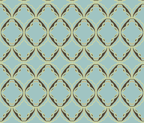 lacey blue fabric by luluhoo on Spoonflower - custom fabric