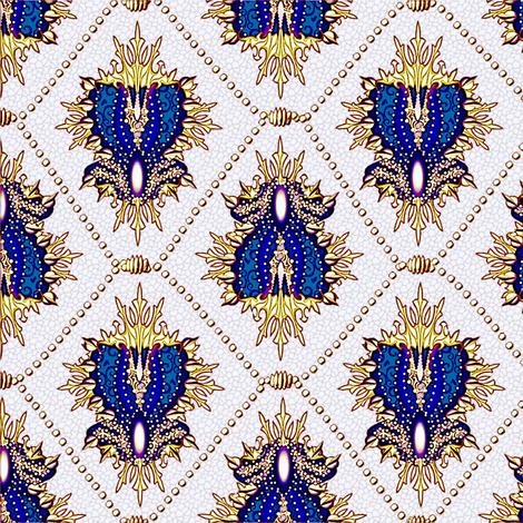 medallion and pearls -  royal gold-ed fabric by glimmericks on Spoonflower - custom fabric