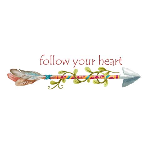Follow Your Arrow Tribal Art fabric by icarpediem on Spoonflower - custom fabric