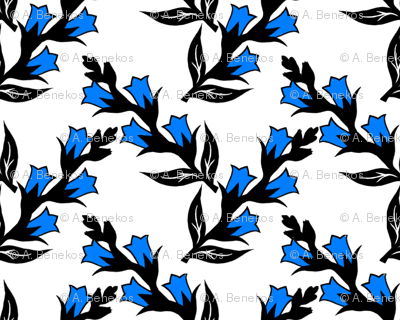 Heraldic Blossom Gentians