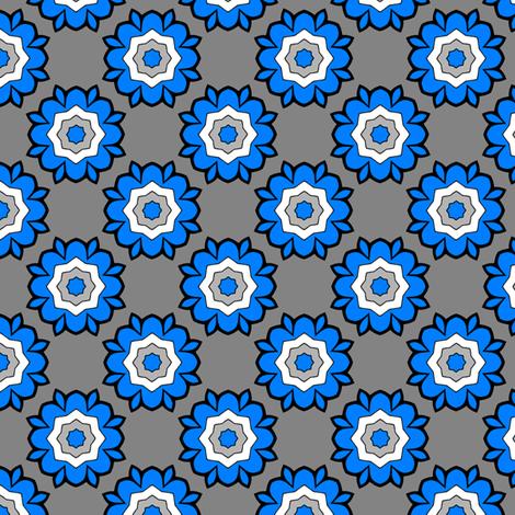 Heraldic Blossom Rose fabric by siya on Spoonflower - custom fabric