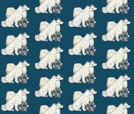 American Eskimmo dog fabric fabric by dogdaze_ on Spoonflower - custom fabric