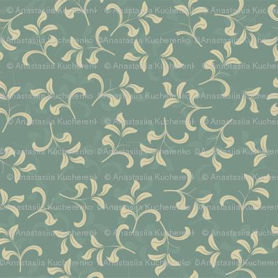 blue vintage leave pattern