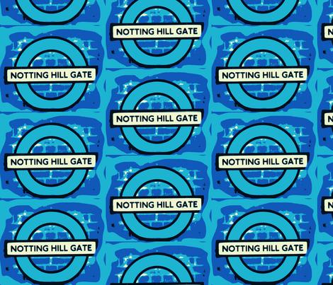 Notting Hill - blue fabric by bettieblue_designs on Spoonflower - custom fabric