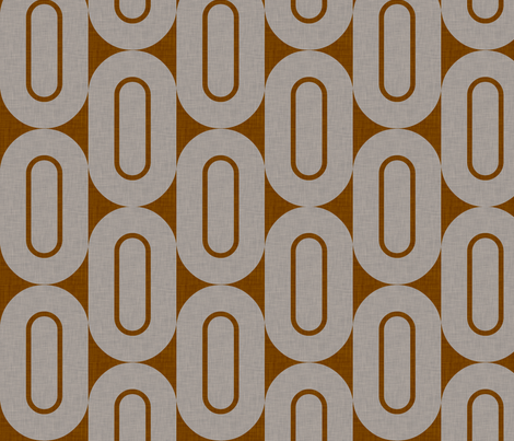 folksong_chocolate_linen fabric by holli_zollinger on Spoonflower - custom fabric
