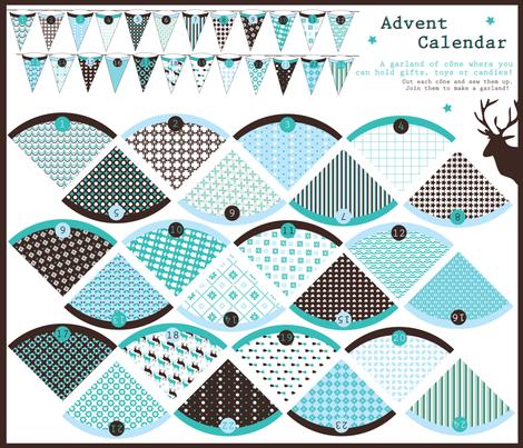X-mas Calendar fabric by demigoutte on Spoonflower - custom fabric