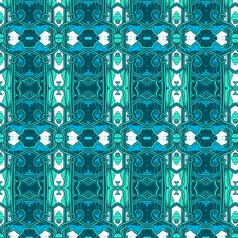 Next Stop 1912 (blue/teal/white) fabric by edsel2084 on Spoonflower - custom fabric