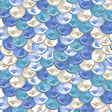 coins cold as ice fabric by glimmericks on Spoonflower - custom fabric