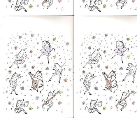 zebra play fabric by jency on Spoonflower - custom fabric