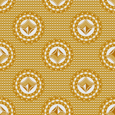 Admiral Medallion Gold fabric by joanmclemore on Spoonflower - custom fabric