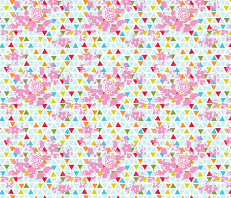Sprigs on Triangles fabric by carinaenvoldsenharris on Spoonflower - custom fabric