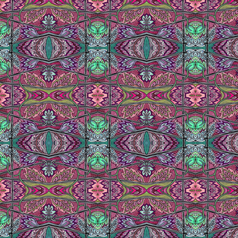 When Winter Waits at the Door fabric by edsel2084 on Spoonflower - custom fabric