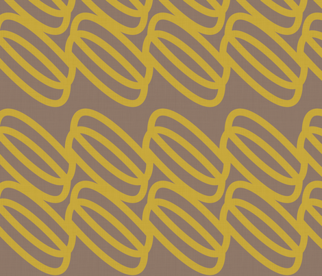 golden links fabric by fable_design on Spoonflower - custom fabric