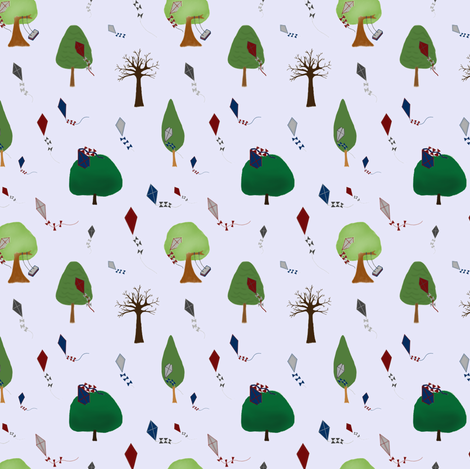 Stuck up a tree fabric by nunnaba on Spoonflower - custom fabric
