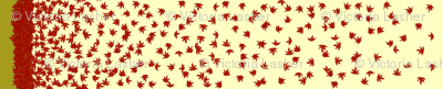 Falling leaves border print
