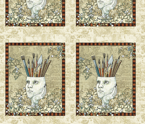 Felicia Dreaming Journal Cover fabric by mutanthelianthus on Spoonflower - custom fabric