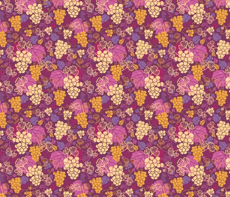 Juicy Grape Vines fabric by oksancia on Spoonflower - custom fabric
