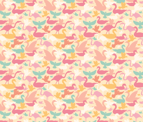 Bird Silhouettes fabric by oksancia on Spoonflower - custom fabric
