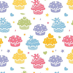 Colorful Yummy Cupcakes