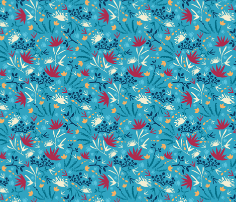 Painted Blue Forest  fabric by oksancia on Spoonflower - custom fabric