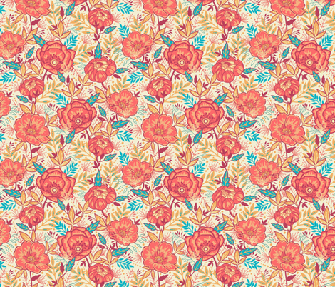 Bright Garden Flowers fabric by oksancia on Spoonflower - custom fabric