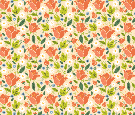 Colorful Spring fabric by oksancia on Spoonflower - custom fabric