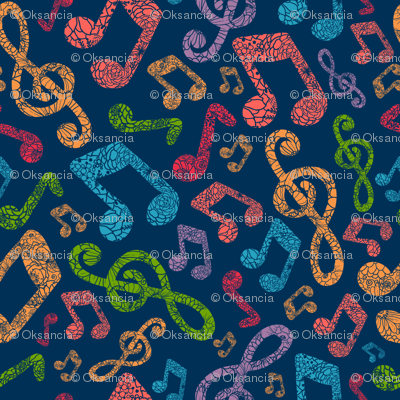 Funky Musical Notes