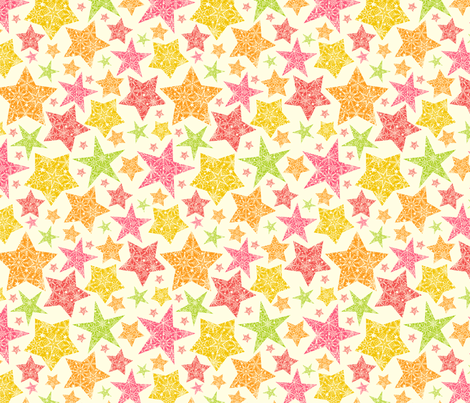Bright Stars fabric by oksancia on Spoonflower - custom fabric