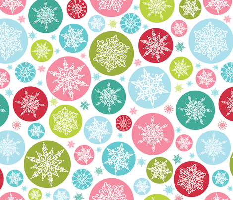 Colorful Snowflakes fabric by oksancia on Spoonflower - custom fabric